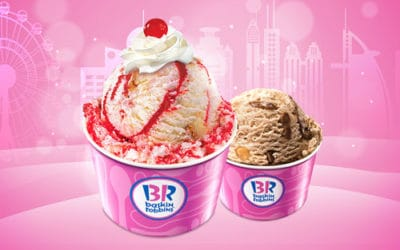 Get free ice cream at Baskin Robbins!