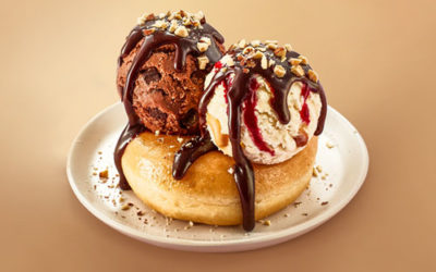 Get free ice cream when you buy a Double Value Donut Sundae at Baskin Robbins!